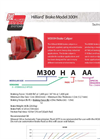 Hilliard - Model M300H - Brake Caliper - Datasheet