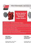Model A400-T300 SH - Caliper Brake - Datasheet