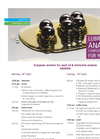 European Seminar for used Oil & Lubricants Analysis - Agenda - Brochure