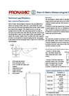 Meteorological Rain and Precipitation Sensor Datasheet