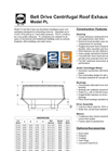 Acme - Model PLZ - Belt Drive Centrifugal Roof Louvered Exhauster Brochure