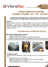 Piping Vibration Control Dynamic Studies, AIV, FIV, Pulsation