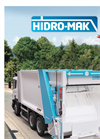 HidroMak - Rear Loaded Garbage Truck Body with Container Washing System - Brochure