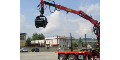 MP International - Dual Axle Trailer with Forestry Crane