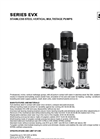 STAC - Model EVX Series - Stainless Steel Vertical Multistage Pumps Datasheet
