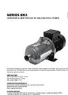 STAC - Model EHX Series - Horizontal Multistage Stainless Steel Pumps Datasheet