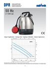 Model DPR 10 - Single-Impeller Submersible Drainage Pump Brochure