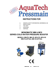MC5 - Single Pump Booster Set With Break Tank Manuals