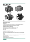 Model DAB KPF, KPS, KP series - Periphera Centrifugal Pumps Brochure