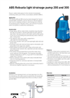 ABS - Model Robusta 200TS - Submersible Pump Datasheet