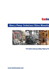 Model TH series - Heavy Duty Slurry Pump Brochure