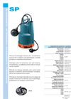SP - Submersible Pumps Data Sheets