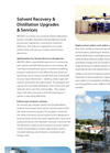 Solvent Recovery & Distillation Upgrades & Services - Brochure