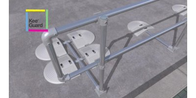 KeeGuard - Safety Compliant Fall Protection Railing System For Standing Seam Metal Roofs