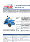 "6HT-DIST-4LE2T 6"" Self Priming Cast Iron Trash Pumps (Wet Prime) Brochure"