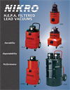 H.E.P.A. Filtered Lead Vacuums Brochure