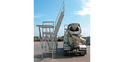 C&W Slump Master III - Model 1096 - Galvanized Safety Slump Inspection Platform with Fiberglass Treads