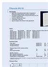 Kalthoff - Model WU-50 - Panel Filter - Datasheet