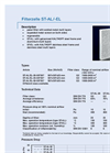Kalthoff - Model ST-AL/-EL - Panel Filter - Datasheet