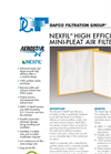 Aerostar - Model Series 1100 - Pleated Air Filter Brochure