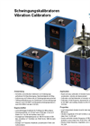Model VC 20 & 21 - Vibration Calibrators Brochure