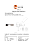 Chicago Sensor - Horizontal-Mount Stainless Steel Float Switches Brochure