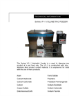 Series VF-1 - Volumetric Screw Feeder Technical Datasheet
