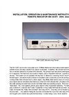 Model SM-12 (AT) - Shelf Mounted Water Alert Monitor Datasheet