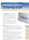 Model 2c\temp-USB - Low-Cost Water Resistant Temperature Data Logger  Data Sheet