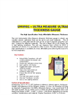 Model UMVV01 - Ultra Measure Ultrasonic Thickness Gauge Brochure