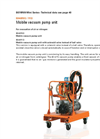 DILO - Models B046R03 and B046R13 - Mobile Vacuum Pump Unit - Datasheet