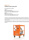 DILO - Model Z300R11 & Z300R12 - Mobile Vacuum Pump Unit - Datasheet