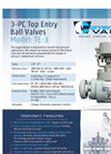 Model TE3 - Top Entry Three Piece Body Trunnion Ball Valve Brochure