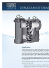 Model XD Series - Duplex Basket Strainers / Pipeline Strainers Brochure