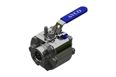 AVCO - Model HP1100 Series - 3 Piece, High Pressure, Standard Port, Fire Safe Ball Valve
