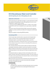 IGEMA - Model DCU - Discontinuous Water Level Controller Datasheet