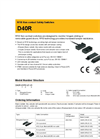 D40R RFID Non-contact Safety Switches - Datasheet
