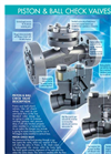 Piston & Ball Check Valves Brochure