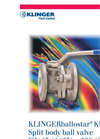 KLINGER Ballostar - Model KHE - 2-Piece Ball Valves Brochure