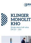KLINGER Monolith - Model KHO - Ball Valves - Brochure