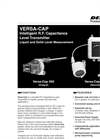 Delavan Versa-Cap Integral 450 or Remote 460 Intelligent R.F. Capacitance Level Transmitter - Datasheet