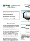 GPE - Model 31490 - Rotary Position Transmitter - Brochure