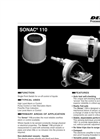 Sonac - Model 110 - Single Point Level Switch for On-Off Control of Liquids - Datasheet