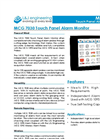 L&J Engineering - Model MCG 7030 - Touch Panel Alarm Monitor - Brochure