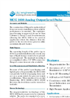 L&J Engineering - Model MCG 1030 - Analog Output Level Probe - Brochure