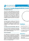 L&J Engineering MCG 8151 - Flexible Magnetostrictive Level Probe – Brochure