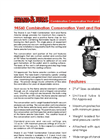 Shand & Jurs - Model 94560 - Combination Conservation Vent and Flame Arrester (2- 4 Inch Sizes) - Brochure