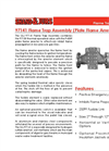 Shand & Jurs Biogas 97141 Flame Trap Assembly (Plate Flame Arrester) - Datasheet