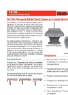 Shand & Jurs - Model 94130 - Pressure Relief Vent (Open or Closed Vent Option) - Datasheet
