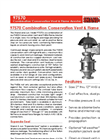 Shand & Jurs 97570 Combination Conservation Vent & Flame Arrester (2inch-12inch Sizes) - Datasheet